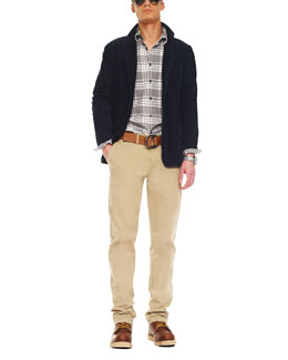 Michael Kors  Washed Corduroy Blazer, Mercer Check Shirt & Garment-Dyed Chino Pants