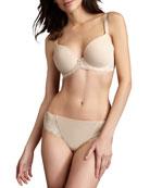 La Femme Plunge-Neck Contour Bra & Bikini Briefs