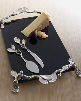 "Michael Aram ""Sleepy Hollow"" Cheese Board & Knife Set"