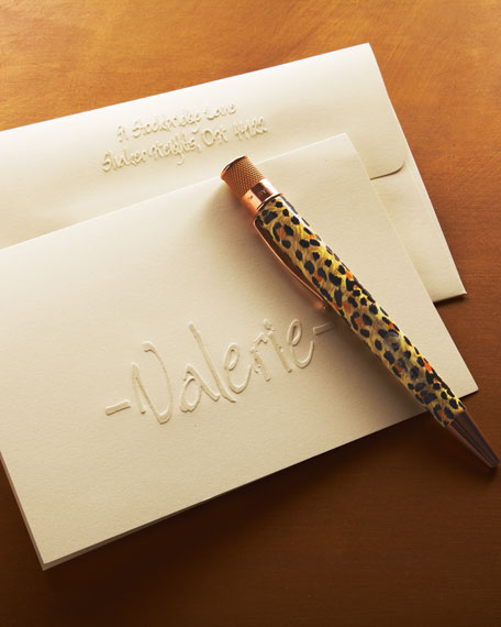 25 Calligraphy Folded Notes with Plain Envelopes