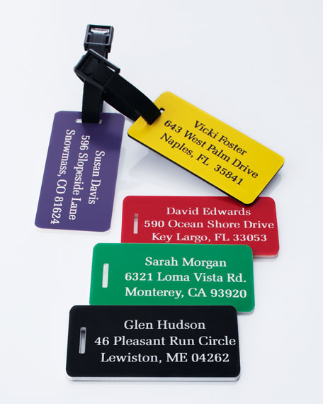 Three Small Luggage Tags