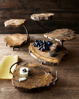 Petrified Wood Serving Pieces