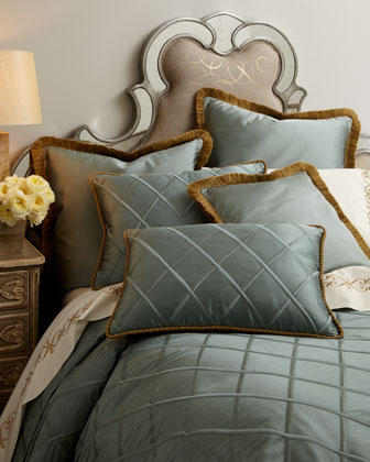 Diamond-Trellis Bed Linens