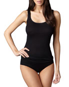 Cotton Seamless Tank & Briefs, Black