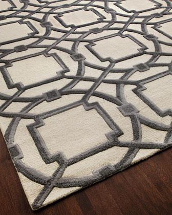Gray Abstract Rug