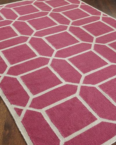 """Exquisite Rugs """"Octagonal Maze"""" Flatweave Rug"""