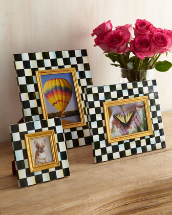 Courtly Check Photo Frames