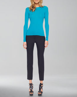 Michael Kors   Featherweight Cashmere Crewneck Sweater & Samantha Skinny Pants