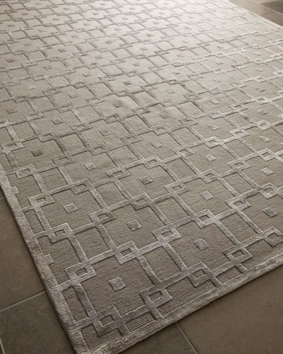 "Exquisite Rugs ""Silver Blocks"" Rug"