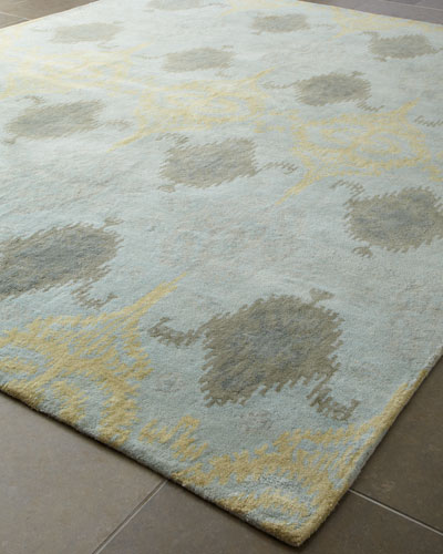 Exquisite Rugs Ikat Blue Oushak Rug