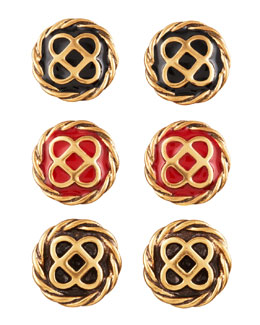 Oscar de la Renta Mosaic Stud Earrings