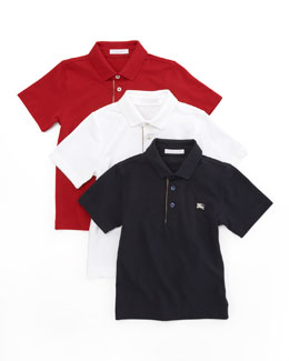 Burberry Check-Trim Polo