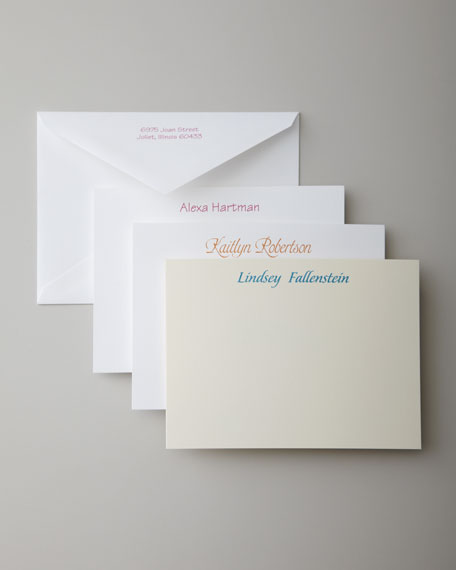 Neimanmarcus 25 Casual Correspondence Cards with Plain Envelopes