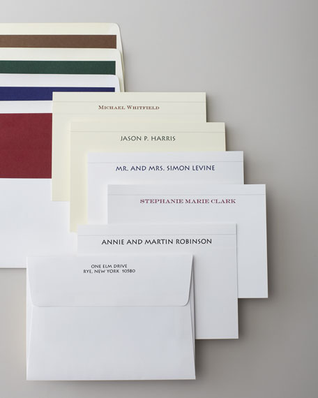 Neimanmarcus 50 Camden Cards with Plain Unlined Envelopes