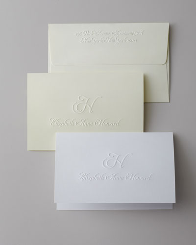 Script Initial & Name Folded Notes