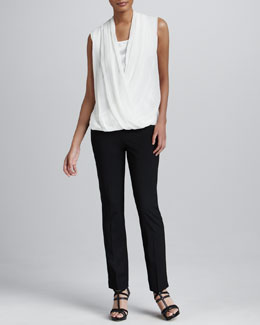 Lafayette 148 New York Kelilia Chiffon Top & Bleecker Pants