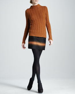 MARC by Marc Jacobs Mira Button-Shoulder Sweater & Lida Striped Skirt