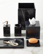 Luna Black Marble Vanity Accessories