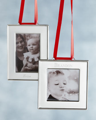 Silver-Plated Frame Christmas Ornaments