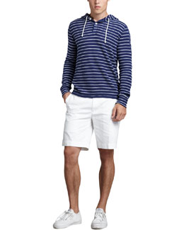 Polo Ralph Lauren Striped Waffle Hoodie & GI Shorts