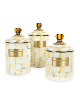 MacKenzie-Childs Parchment Check Canisters