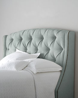 "Bernhardt ""Rami Wing"" Tufted Headboard"