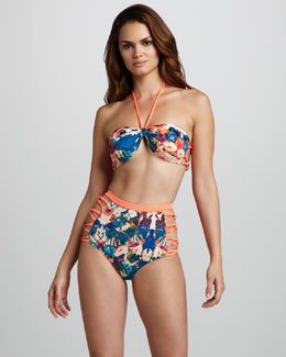6 Shoreroad Mi Tai Bandeau Bikini Top & High-Waist Bottom