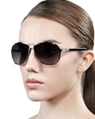 Dior Chicago Crystal Aviator Sunglasses