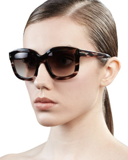 Tom Ford Christophe Oversized Sunglasses