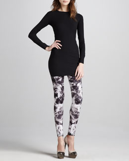 McQ Alexander McQueen Fitted Long-Sleeve Tunic & Printed Leggings