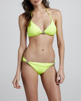 Milly Eleuthera Halter Bikini Top & Swim Bottom