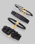 MARC by Marc Jacobs Logo-Detailed Bracelets, Black