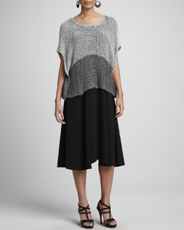 Eileen Fisher Open-Twist Knit Cropped Top & Sleeveless Jersey Maxi Dress, Petite