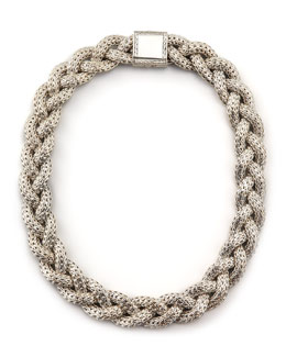 John Hardy Large Braided Silver Chain Necklace, Personalized