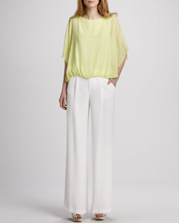 Alice + Olivia Una Batwing Top & Eric Pants