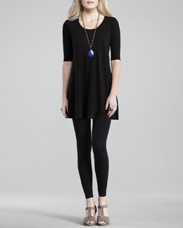Eileen Fisher Linen-Jersey Dress & Jersey Leggings