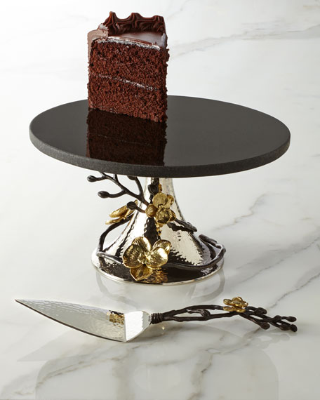 Gold Orchid Cake Stand