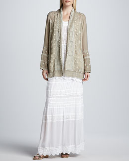 Johnny Was Collection Arron Embroidered Coverup, Lacey Tank Tunic & Georgette Eyelet Skirt