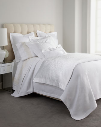 White Jacquard Bedding