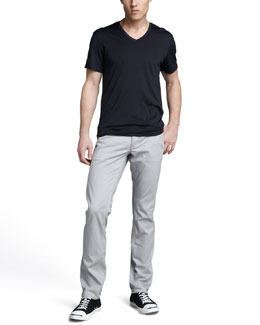 Theory Claey Silk-Cotton Tee & Haydin Writer Pants