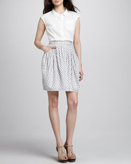 MARC by Marc Jacobs Tiffany Check Skirt & Tiffany Check-Pattern Blouse