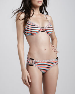 Nanette Lepore Strobe Light Striped Two-Piece Bikini