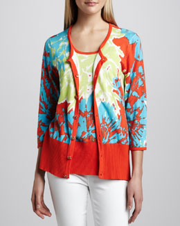 Berek Pretty-In-Papaya Cardigan & Shell