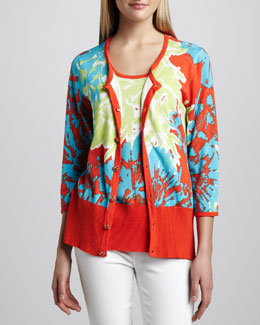 Berek Pretty-In-Papaya Cardigan & Shell, Petite
