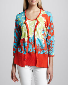 Berek Pretty-In-Papaya Cardigan & Shell, Women's