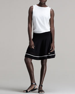 ALC Tenorio Cutout Tank and Kruse Contrast-Stripe Skirt