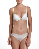 Rosa Floral-Lace Push-Up Plunge Bra & Brazilian Briefs