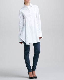 Donna Karan Easy Shirt & Seamed Leggings