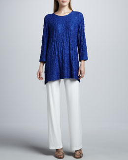 Caroline Rose Lace Knit Long Tunic & Straight-Leg Pants, Women's