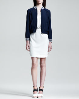 Rag & Bone Dana Belted Knit Dress & Astrid Zip-Front Blouson Top